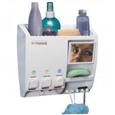Ulti-Mate All  in One White shower Dispenser
