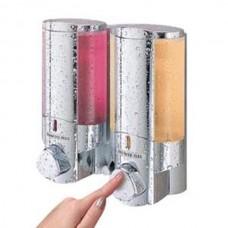 Aviva Twin Chrome liquid shower dispenser