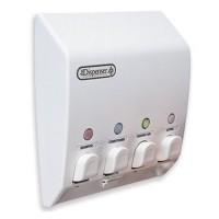 Classic  Quad White Shower Dispenser