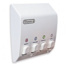 Classic  Quad White Shower Dispenser