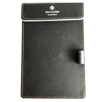 Black Leather Notepad Holder