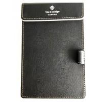 Black Leather Notepad Holder