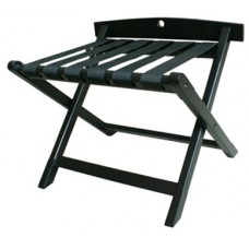 Black Timber Luggage Stand