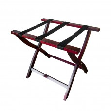 Timber Luggage Stand No Back with Satin Finish - SPECIAL