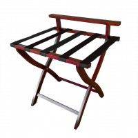 Timber Luggage Stand with Satin Finish - SPECIAL