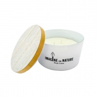 Fresh Linen Glass Jar Candle