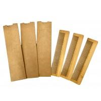 Natural Timber Combs x 100