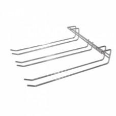 Triple Row Glass Hanger (chrome)