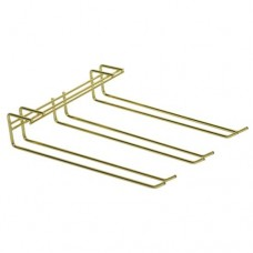 Triple Row Glass Hanger (Brass)