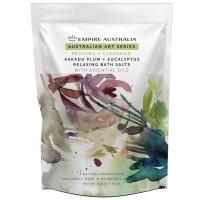 Kakadu Plum & Eucalyptus Bath Salts 1Kg + FREE Loofah