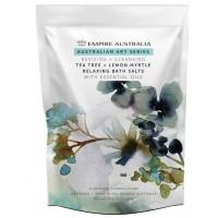 Tea tree & lemon Myrtle Bath Salts 1Kg + FREE Loofah