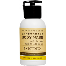 MOR Correspondence 40ml Refreshing Body Wash Bottles x 50