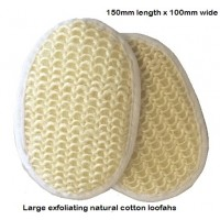 Large Cotton Loofah x 50