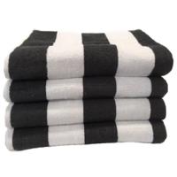 Beach Hut Pool Towel - Charcoal