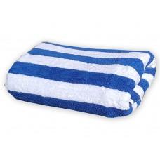 Beach Hut Pool Towel - Royal Blue