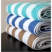 Turquoise Stripe Pool Towel