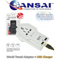 World Adapter and USB Port