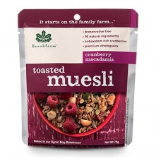 Toasted Muesli with Cranberries 20pkts x 75gm