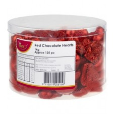 Luv Bites Red Chocolate Hearts 1kg
