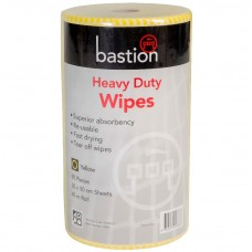 Bastion Heavy Duty Wet Wipes 45m - Yellow