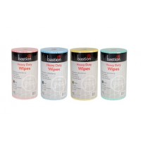 4 Mixed Colours Bastion Heavy Duty Wet Wipes