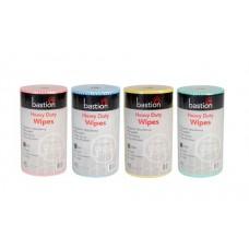 4 Mixed Colours Bastion Heavy Duty Wet Wipes