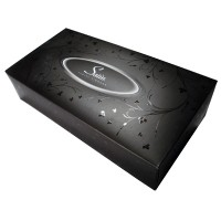 Satin Black Facial Tissues [Rectangular]