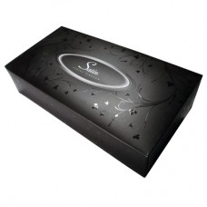 Black Satin Facial Tissues [Rectangular]