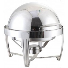 Chrome Deluxe Round Roll-Top Chafer