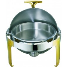 Deluxe Round Roll-Top Chafer with Gold Legs