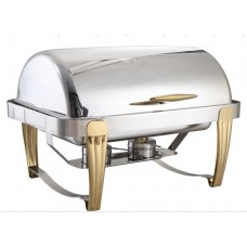 Stainless Steel Buffet Chafing Dish with Gold Leg