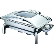 Full Size Rectangular Chafing Pan with Glass Lid