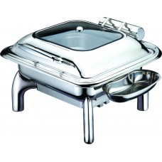 Square Chafing Pan with Glass Lid