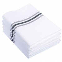 Restaurant Napkin White with Black Stripes