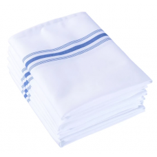 Bistro Napkin White with Royal Blue Stripes