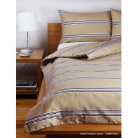 Hudson Stripe Latte Single Bed Duvet Cover Set