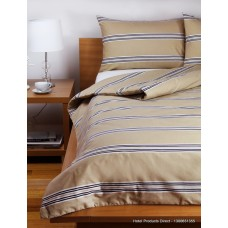Hudson Stripe Latte KSB Duvet Cover Set
