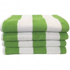 Beach Hut Pool Towel - Lime