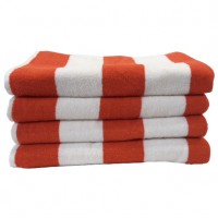 Beach Hut Pool Towel - Orange