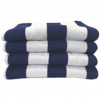 Beach Hut Pool Towel - Royal Blue