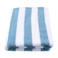 Teal Coloured Stripe Pool Towel