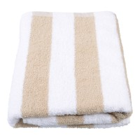 Beige Stripe Pool Towel