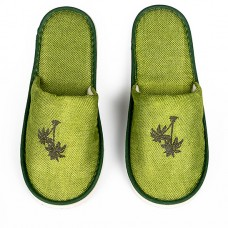 Tropical Green Rattan Slippers x 20