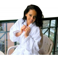 Yorkshire Deep Plush Waffle Robe + 2 free Eye Masks