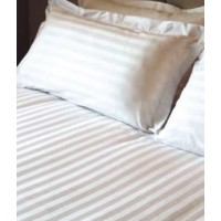 King Sateen 10mm Stripe Top Sheet