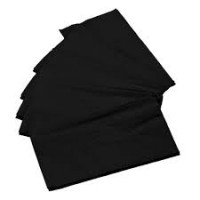 Spun Poly Napkin - Black