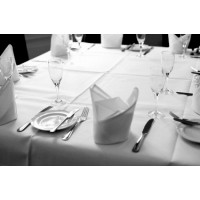 Spun Poly White Tableclothes