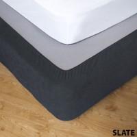 Stretch Valance Slate - Double