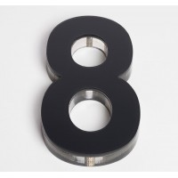 Ultra Numeral 90mm Black - 8
