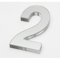 Ultra Numeral 90mm White - 2